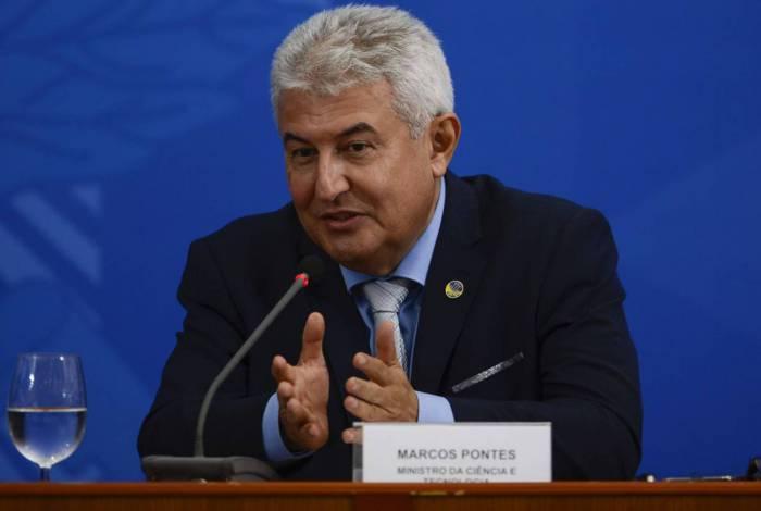 O ministro da Ciência, Tecnologia, Inovações e Comunicações, Marcos Pontes, participa de coletiva de imprensa no Palácio do Planalto