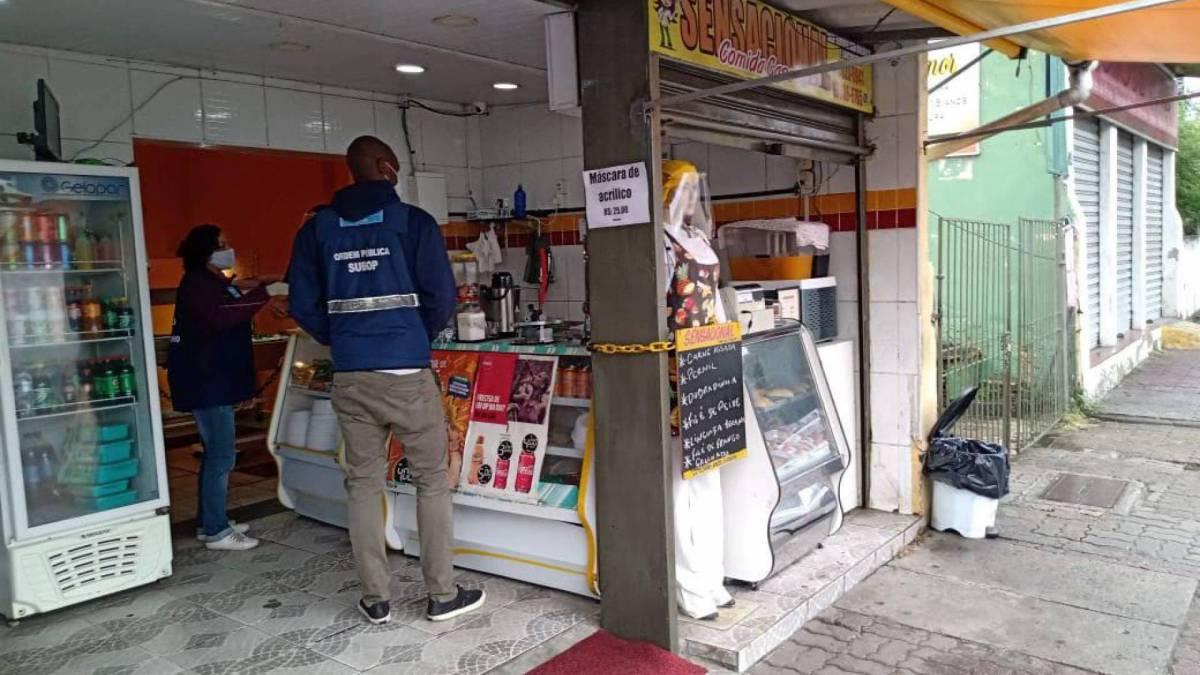 Fiscalização da Seop no centro comercial de Campo Grande
