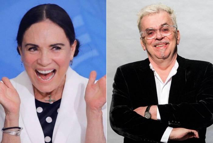 Regina Duarte e Walcyr Carrasco