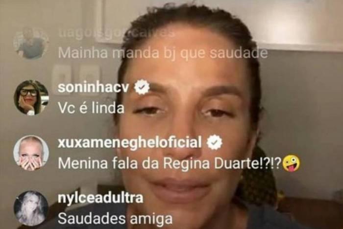 Xuxa aparece na live de Ivete Sangalo