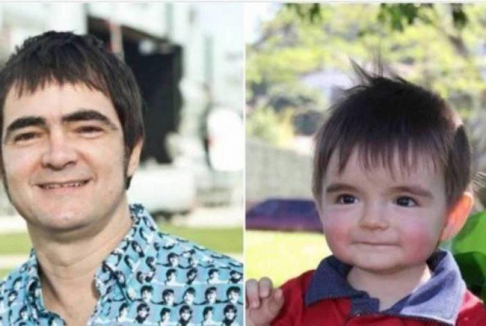 Samuel Rosa e o bebê que viralizou nas redes sociais