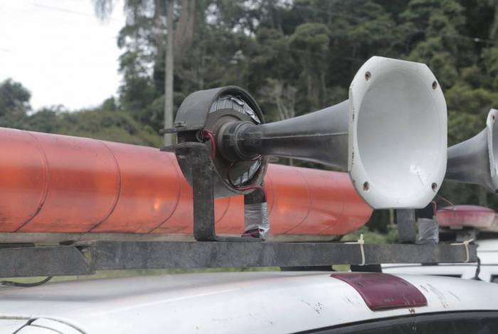 As sirenes fixas nos bairros tocam às 10h, 16h e 20h