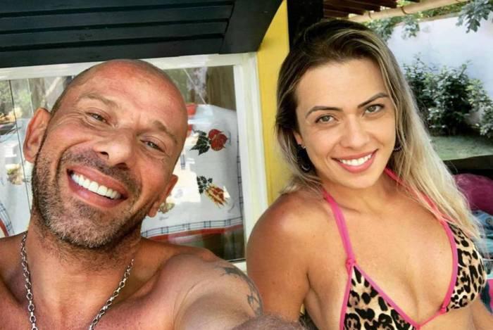 Rafael Ilha e sua mulher Aline