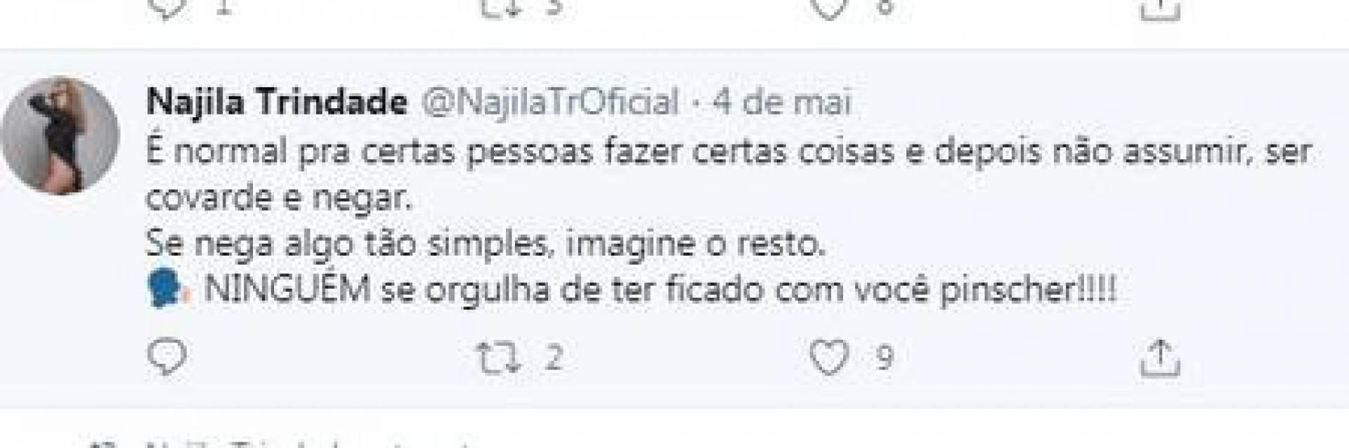 Najila Trindade volta às redes sociais, posta fotos sensuais e manda indireta para Neymar