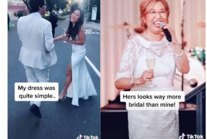 Mãe deixa noiva em choque ao aparecer de branco em casamento