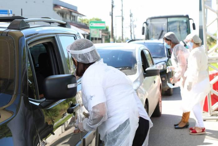 Nas barreira sanitárias, temperatura dos motoristas são aferidas