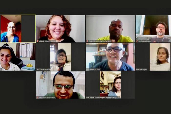 A equipe pedagógica do MEP-VR realizou uma reunião online neste domingo, dia 17