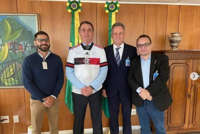 Diretoria do Flamengo encontra Jair Bolsonaro
