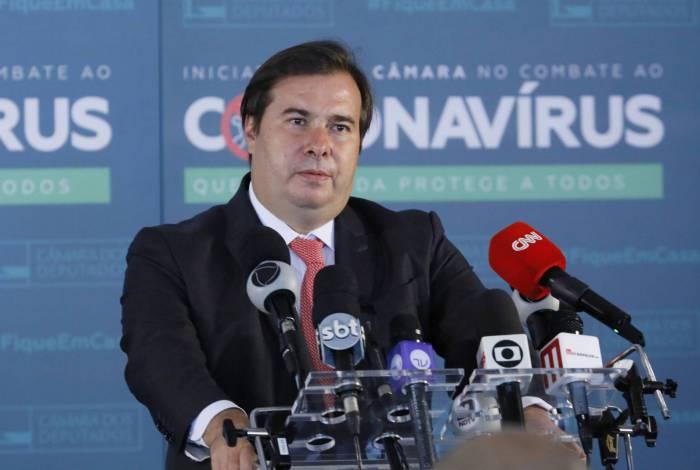 Presidente da Câmara, Rodrigo Maia gostou da convergência de ideias na reunião por videoconferência