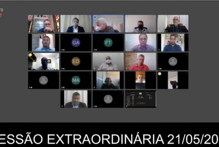 Sessão extraordinária foi realizada por videoconferência nesta quinta-feira (21) na Câmara Municipal de Macaé