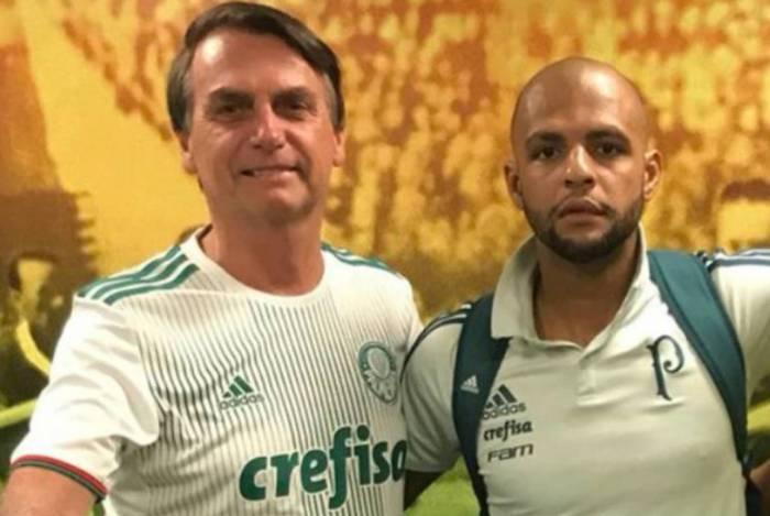 O jogador Felipe Melo foi um dos apoiadores de Bolsonaro na campanha presidencial