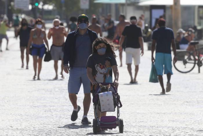 Movimentação de pessoas em Copacabana