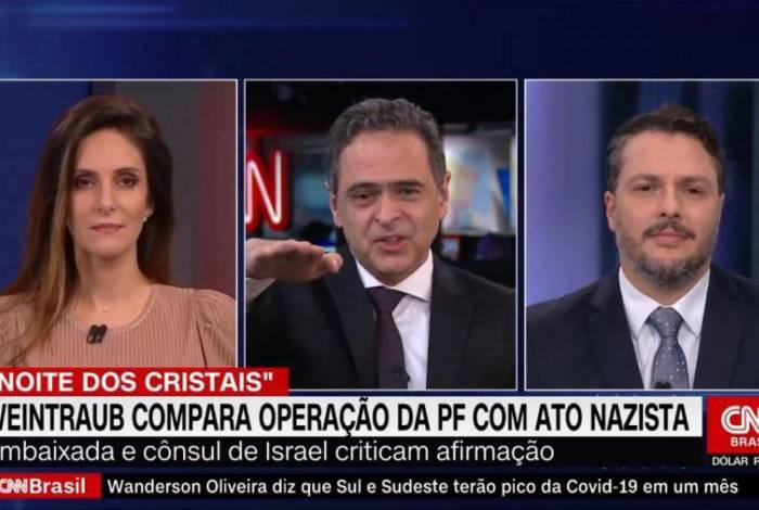 Lourival Sant'Anna faz saudação nazista ao vivo na CNN Brasil