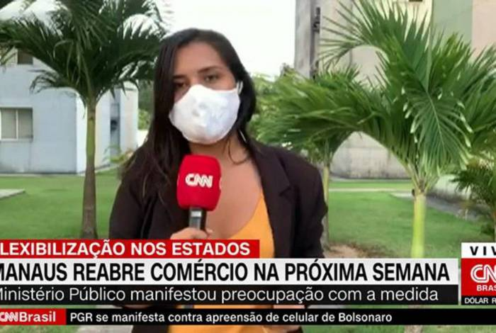 Luciene Kaxinawá passou mal e desmaiou após link ao vivo na CNN Brasil