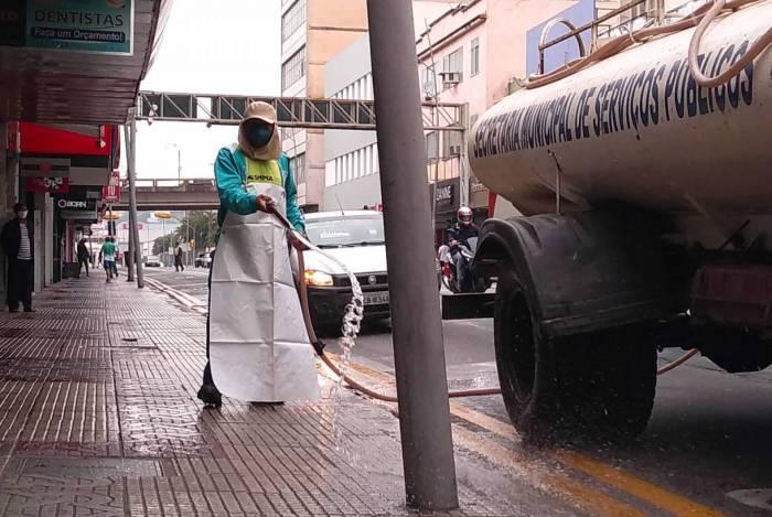 Prefeitura de Volta Redonda reforça a sanitização nos centros comerciais