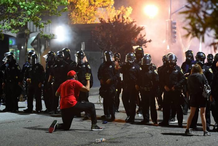 Protesto em Oakland, na California