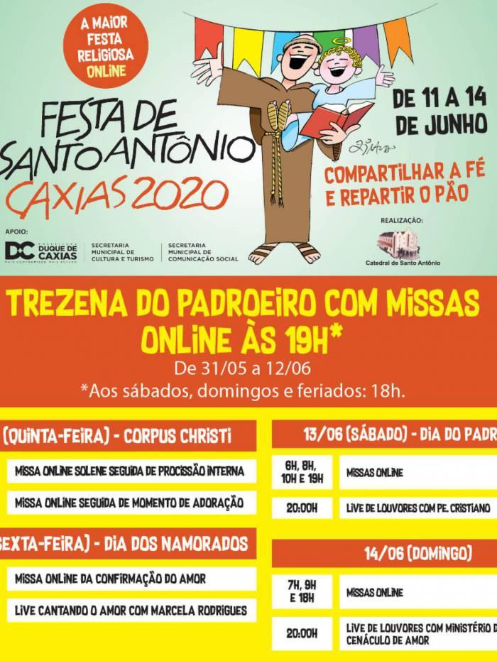 Veja a programação da festa de Santo Antônio de Duque de Caxias