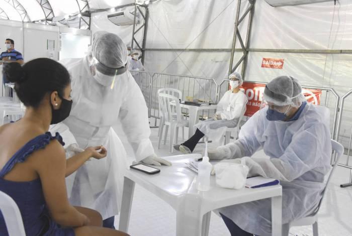 Maricá iniciou a testagem de covid-19 em três polos na cidade