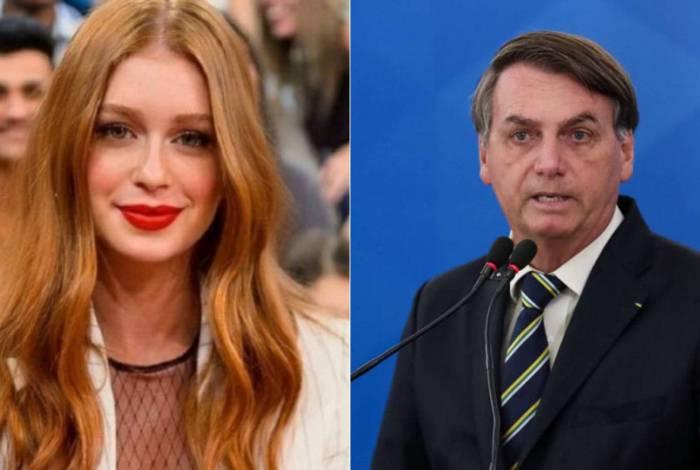 Marina Ruy Barbosa e Bolsonaro