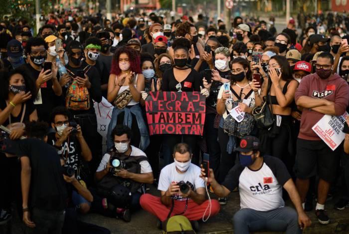 Manifestação antirracista no Rio de Janeiro