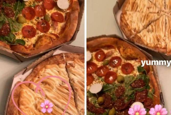 Pizza de Vitão e Luísa Sonza