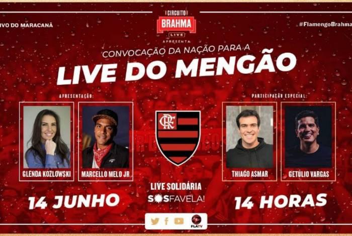 Live do Fla terá Mumuzinho, Xande de Pilares, ídolos da Nação e doações para o SOS Favela