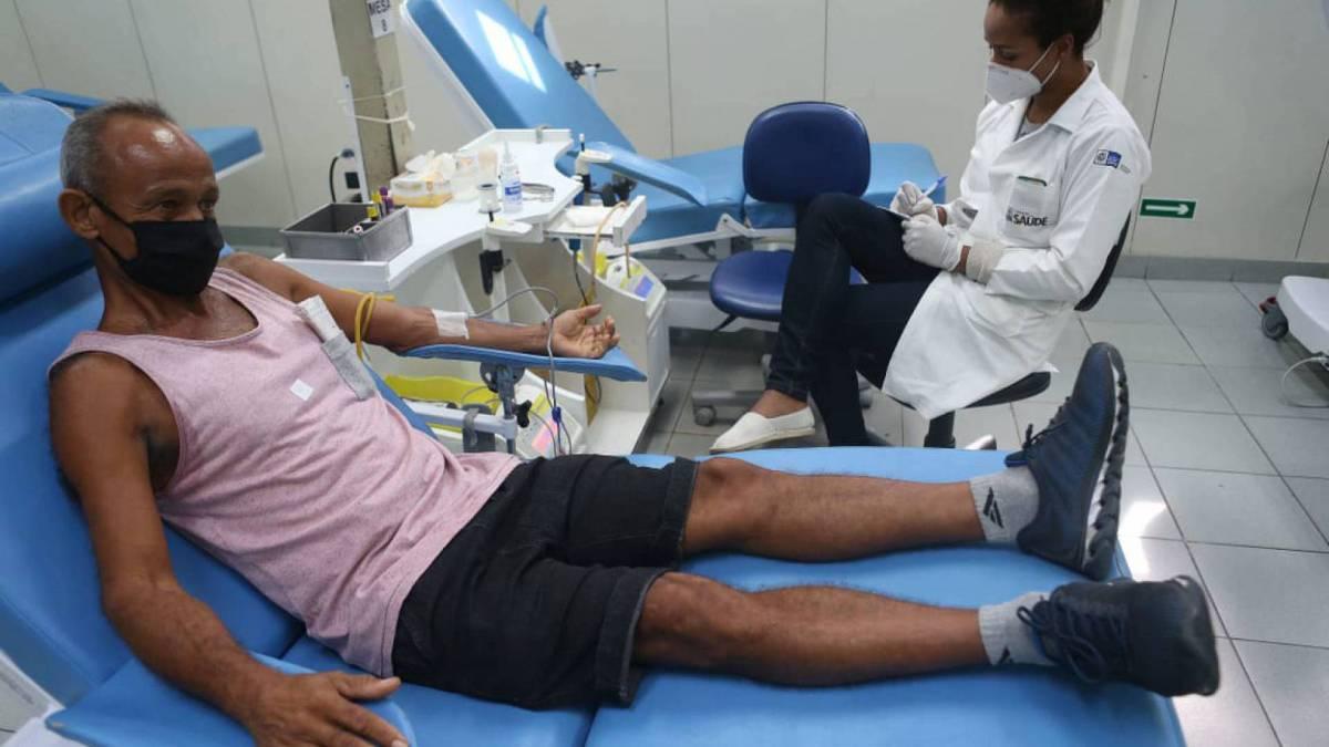 Ação da doar sangue aconteceu nesta tarde