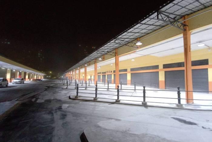 Com as obras, o Terminal Centro vai ficar com o mesmo tipo de iluminação feito nas ruas de entorno