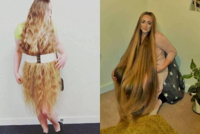 Polonesa diz que cuida dos cabelos para manter o tamanho longo