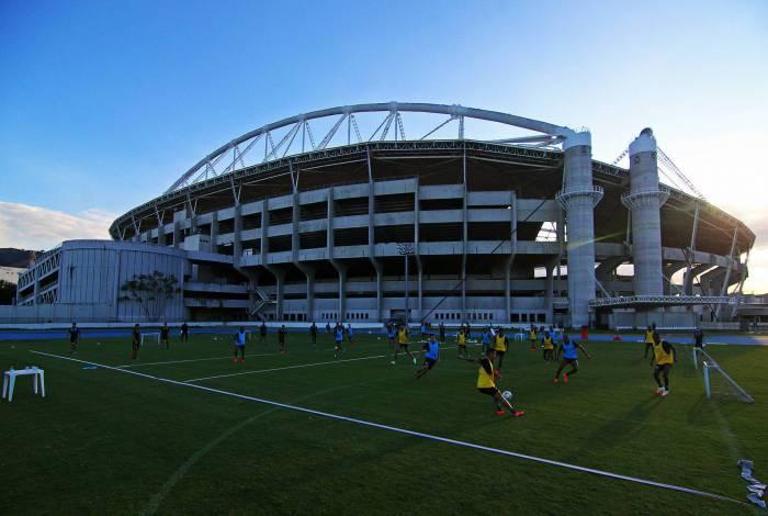 Treino do Botafogo no Estadio Nilton Santos. 22 de junho de 2020, Rio de Janeiro, RJ, Brasil. Foto: Vitor Silva/Botafogo
