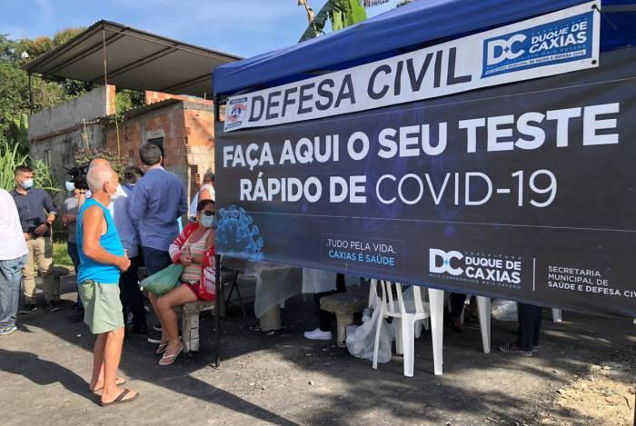 Testagem rápida já atingiu mais de 60 mil pessoas em Duque de Caxias