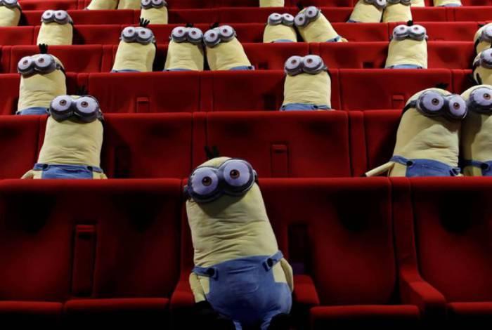 A ação no cinema MK2 culminou com a exibição de Minions