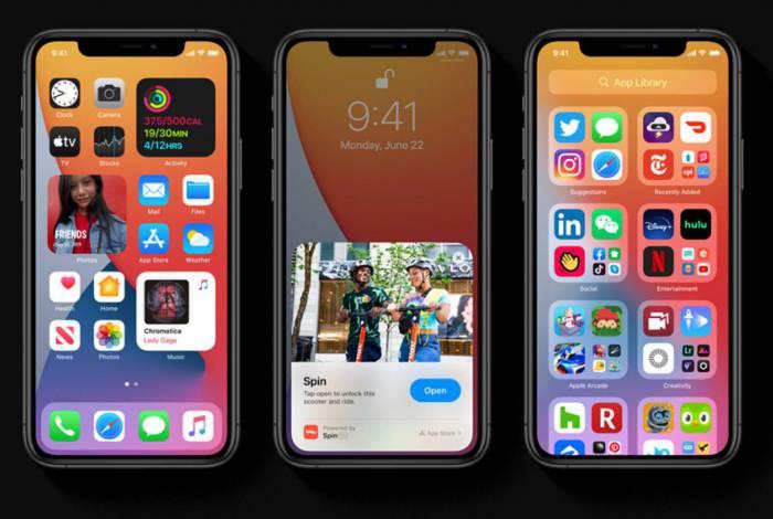 iOS 14 muda de visual