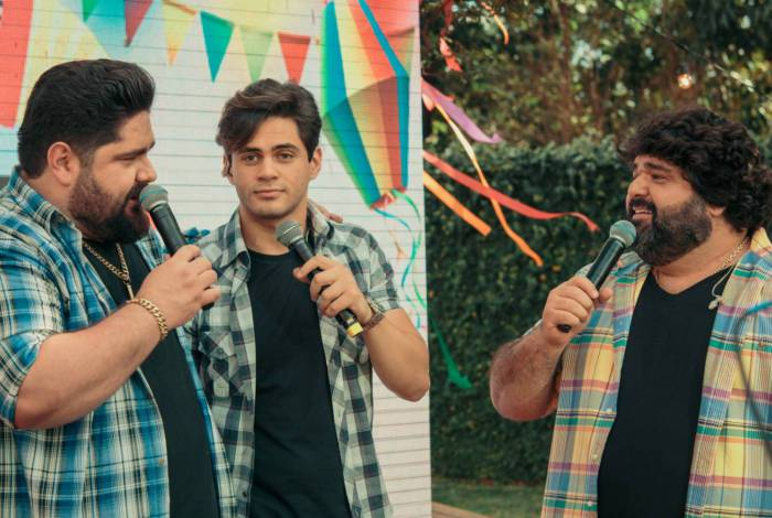 César Menotti e Fabiano com Lucas Veloso