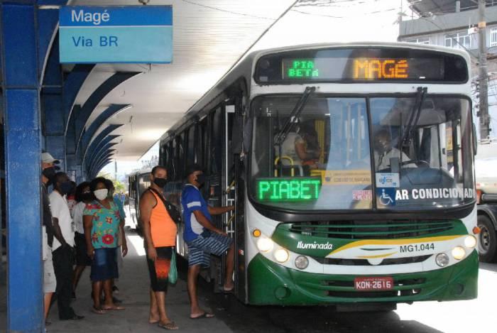 Retomada de 100% da frota de ônibus das linhas municipais e intermunicipais em Magé