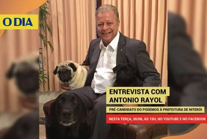Antonio Rayol é o entrevistado desta terça (30) do jornal O DIA com transmissão simultânea pelo Facebook e YouTube às 15h
