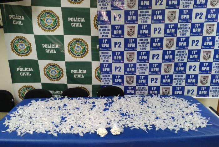 Mais de meio quilo de cocaína foi apreendido em ação conjunta das polícias Civil e Militar em Nova Friburgo