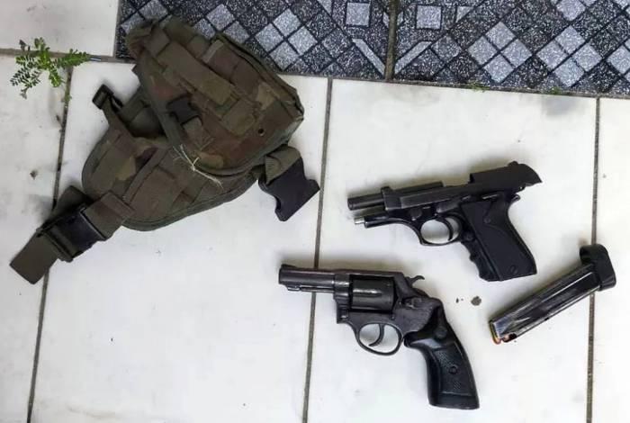 Material encontrado com o policial militar