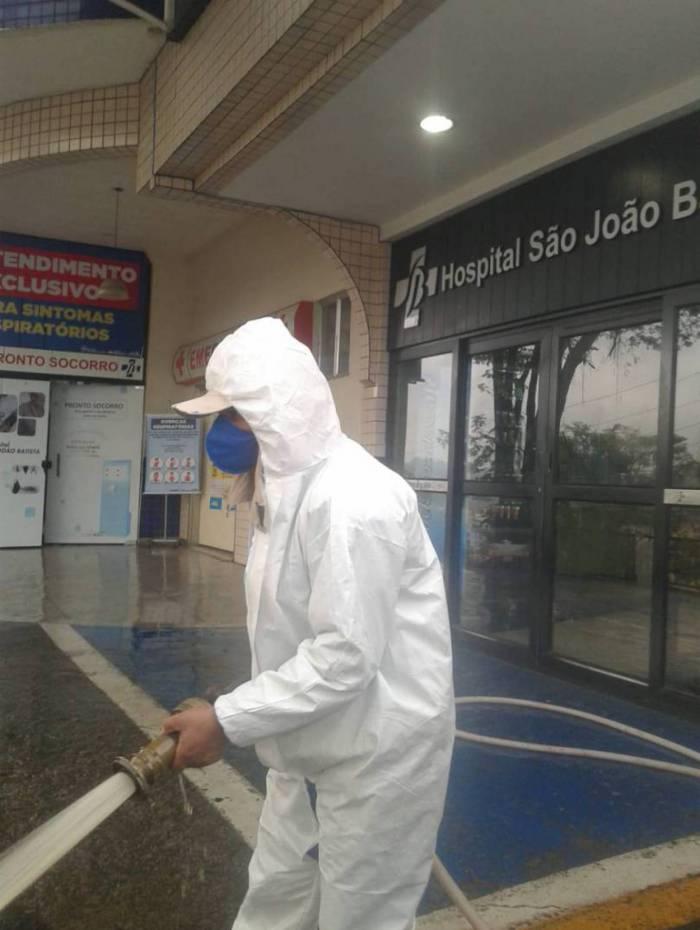 Ação preventiva ao coronavírus acontece no Hospital do Idoso e no São João Batista