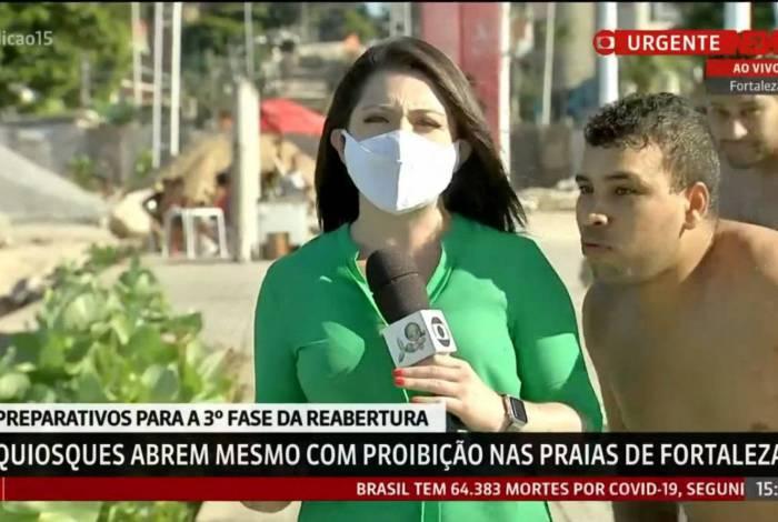 Homem invade ao vivo da GloboNews