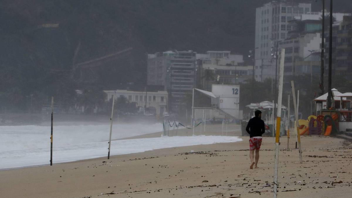 Mau tempo no Rio nesta quarta-feira