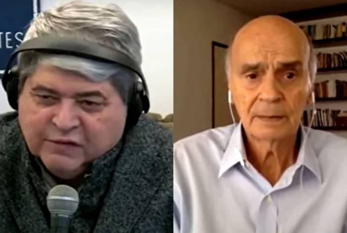 Datena abandona entrevista ao vivo com Drauzio Varella ao descobrir que a sogra morreu