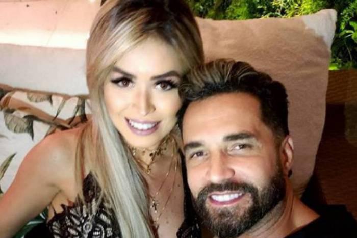 Rafaella Ribeiro e o noivo Latino