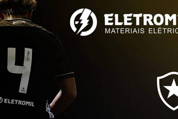 Alvinegro fecha patrocínio com a Eletromil, que estreou no amistoso contra o Fluminense, sábado