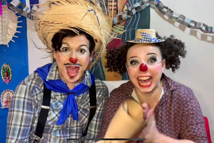 Os palhaços Ratinha e Piriquitovisk trazem leveza pelo canal no YouTube 'Circo em Casa'