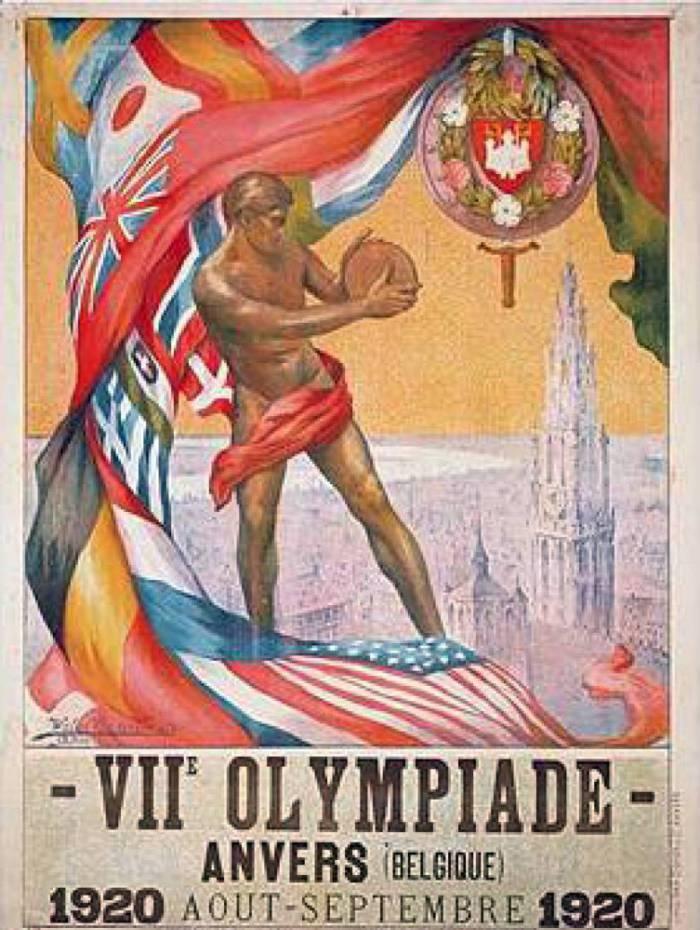 cartaz olimpíadas Antuérpia
