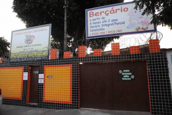 Escola infantil de Madureira, na Zona Norte, precisou fechar as portas mais uma vez, após desembargador proibir aulas presenciais
