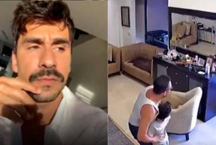 Julio Rocha se emociona com vídeo de homem protegendo o filho no Líbano