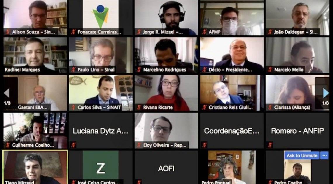 Membros do Fonacate se reuniram nesta terça-feira em assembleia - Divulgação/Fonacate