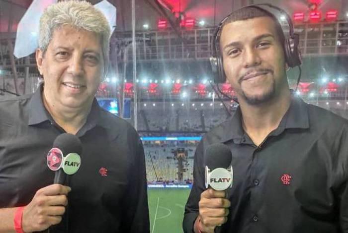 Emerson Santos e Alexandre Tavares, da Fla TV